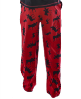 Men's Red Classic Moose PJ Trousers - Lazy One®  | Pyjama Bottoms